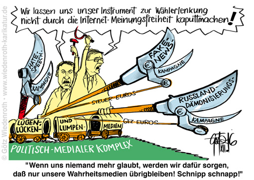 Karikatur_Luegenpresse_Medien_Journalismus_Zensur_Konkurrenz_Fake_News_Hate_Speech